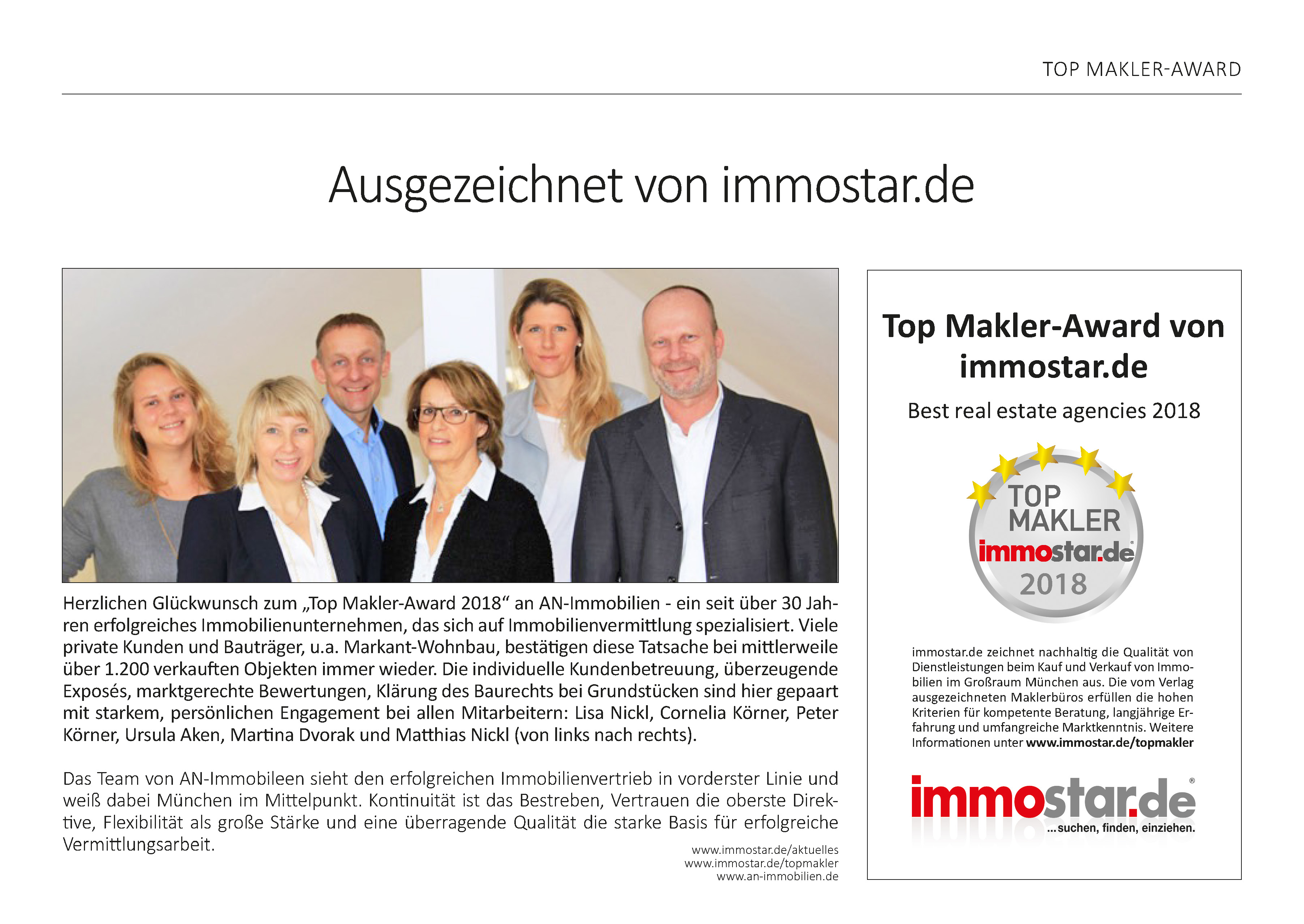 TOP MAKLER AN Immobilien